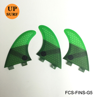 FCS FIN G5 Tri fin set FCS G5 M size Honeycomb Fibreglass Green Black Red Blue surfboard fin