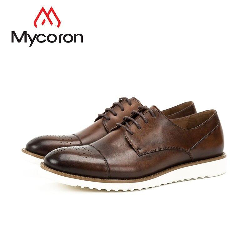 MYCORON New Fashion Work Men Dress Boots Luxury Fashion Brogue Shoes Business Formal Wedding British Style Shoes Scarpa Uomo fashion style