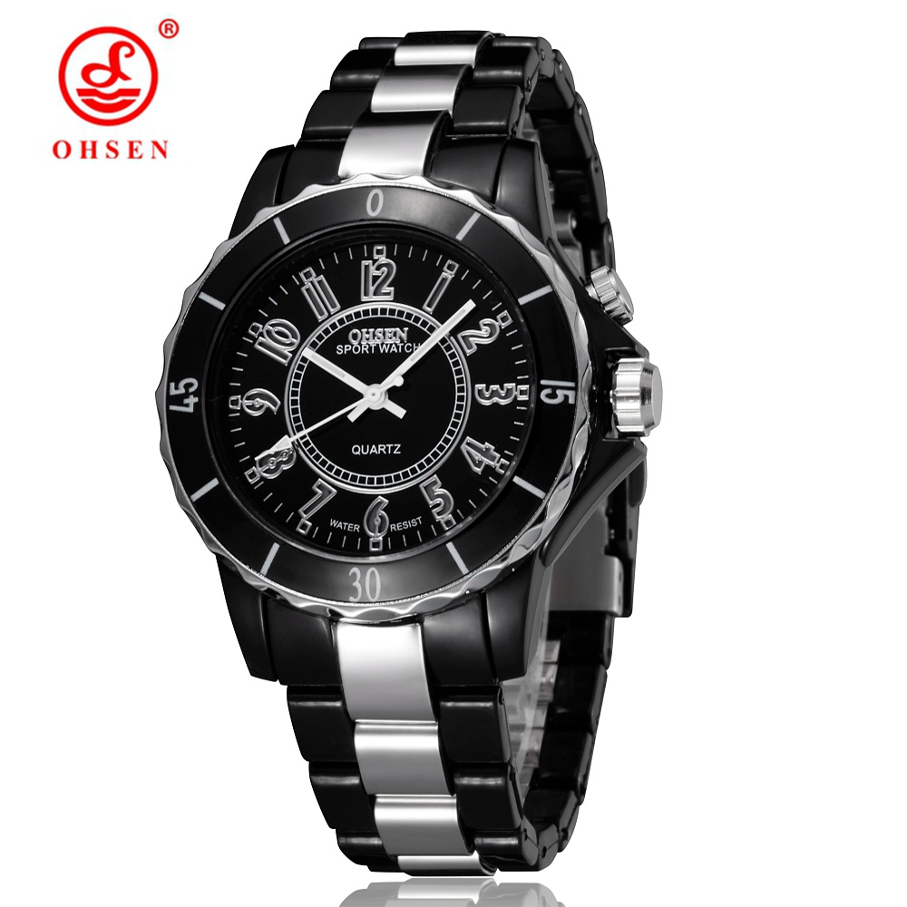 Original OHSEN Brand Quartz LCD Fashion Wristwatch Ladies Women Black Luxury 7 Colors Dress Waterproof Watches relojes mujer