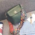2016 Mujeres de La Manera Bolso de Hombro de Alta Calidad Bolsa de Mensajero Femenino Negro Verde Rosa Niñas Lockbutton Bolso Crossbody Para Ir de Compras