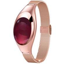 Mujeres de la manera z18 soporte de smart watch smartwatch con presión arterial heart rate monitor podómetro gimnasio rastreador fo android ios