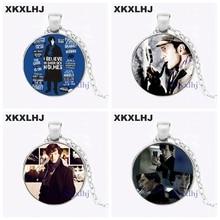 XKXLHJ Sherlock holmes Necklace Pendant Glass Dome