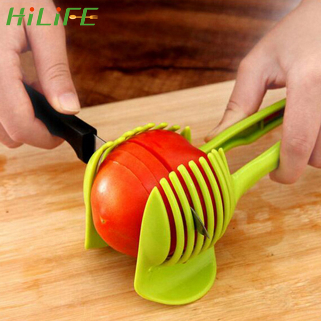 HILIFE Kitchenware Tomato Slicer Bread Clip Fruit Cutter For Potato Apple Cooking Tools Creative Gadget Kitchen Accessories