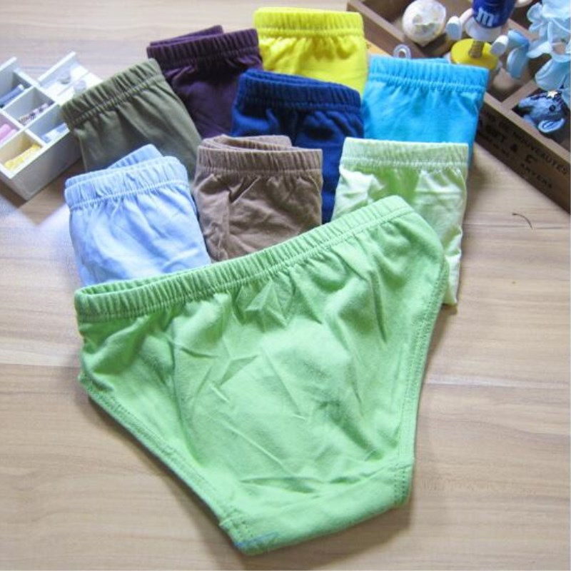 3pc Solid Baby Boys Panties Briefs Kids Underwear Boys  Panties Children  Underwear Suit for 1--12 Years 2