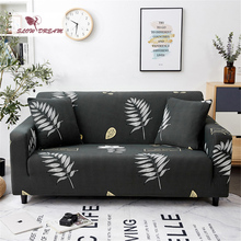 Slowdream Gray Anti-Dirty Couch Cover Double Single Seat Removable Stretch Elastic Sofa Cover Decor Home Living Room Slipcover slowdream nordic style sofa cover elastic band couch cover stretch furniture single chair double love seat decor home slipcover