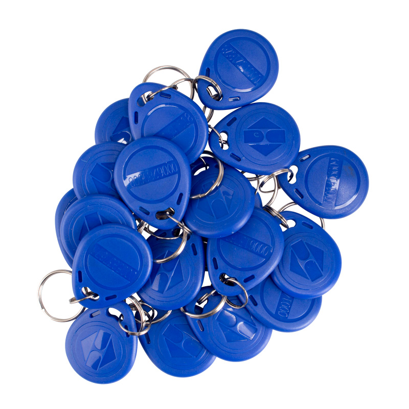 10pcs RFID Key Fobs Token Tags EM4100 Durable Waterproof Keychain ID Card Read TK/EM4100 Keychain ID Card Cannot Be Copied