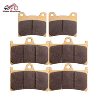 3pair Motorcycle Parts Front Rear Brake Pads For YAMAHA YZF 1000 R BT 1100 P/R/S/T/V XJR 1300 YZF 600 R R