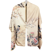 Autumn Silk Scarf Women Winter Fashion Chinese Style Silk Print Scarf Pashimina Ari Ring Scarves women Accessory 170X46cm TT395