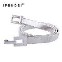 IFENDEI Designer Riemen Voor Vrouwen Shiny Elastische Stretch Ketting Metalen Tailleband Hoge Kwaliteit Goud en Zilver Riem Wilde Voor Rok