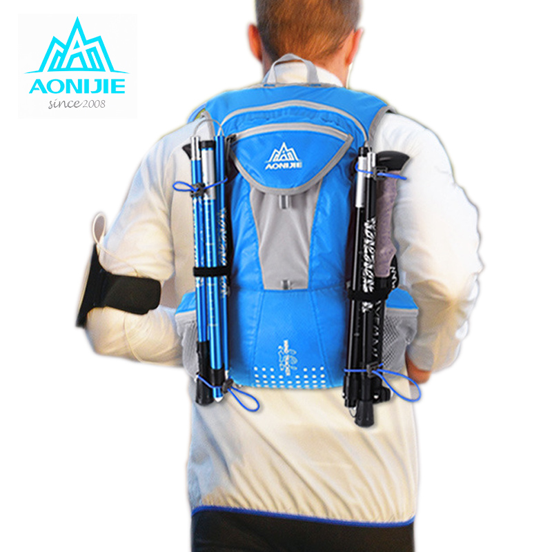 2017 AONIJIE Running Nylon Backpack 12L Outdoor Lightweight Hydration Water Pack Sport Bag Climbing Cycling Hiking Running Bag outdoor riding hydration bladder armor backpack hiking cycling climbing tactical water bag