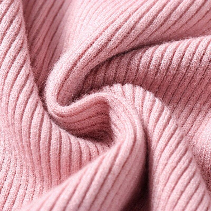 Winter autumn turtleneck Black Sweater Women Skinny Elastic Knitted Soft Pullover Sweater female 19 korean fashion Pullovers 6