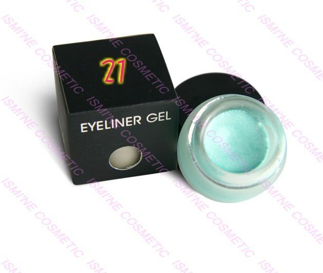 30 color to choose  free shipping  Water Proof Eye liner Gel  Diamond Blue #21