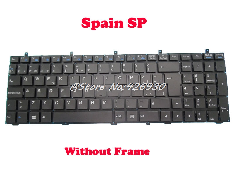 Laptop Keyboard For Mountain Studio Mx 15 Ivy MP 12A36E0 430W 6 80 W3700 162 1