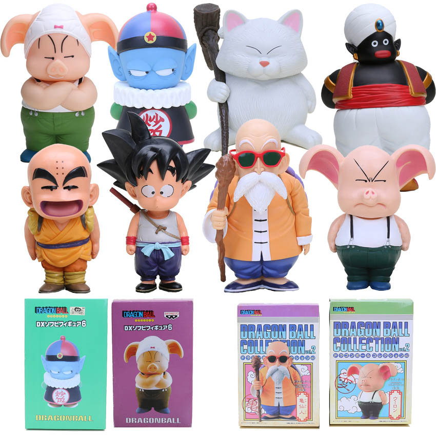 12-22cm Dragon Ball Z Figures Oolong Goku Mater Roshi Pilaf Karin Toriyama PVC Action Figure Chidren Toy Retail