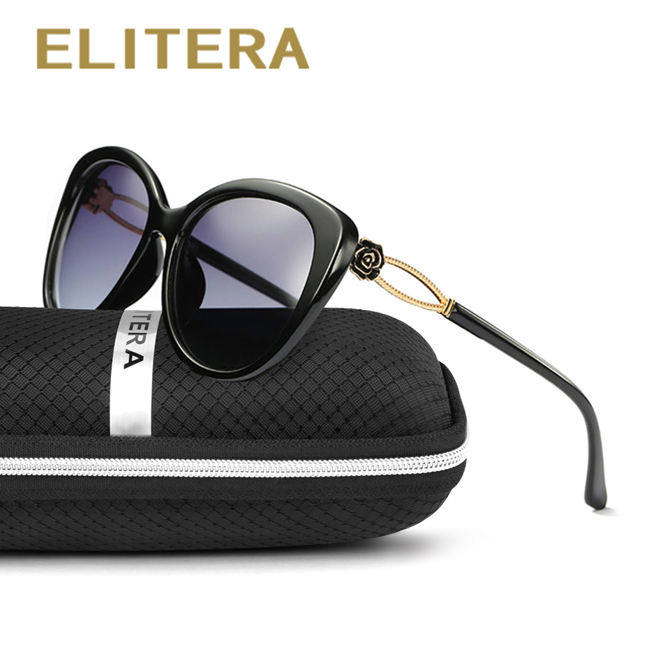 ELITERA Fashion Brand Cool Solglasögon Damer Solglasögon Butterfly Mirror Eyewear Women Goggles Occhiali da sole UVA / UVB