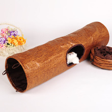 Pet tunnel cat play tunnel with toy cats foldable tunnel supplies pets products