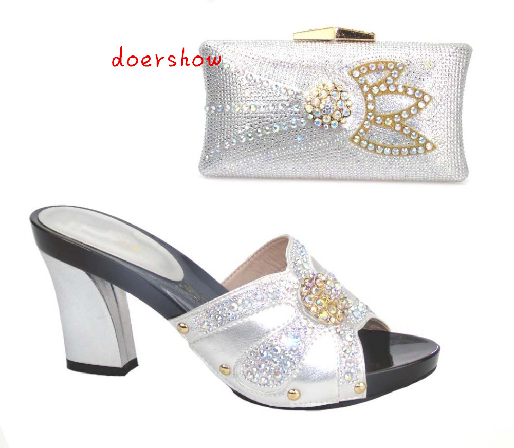 doershow Shoe and Bag To Match Italian African Shoe and Bag Sets Women Shoe and Bag To Match for Parties African Shoe !!HTX1-18 red african wedding shoe and bag sets women shoe and bag to match for parties elegant italian women shoe and bag set