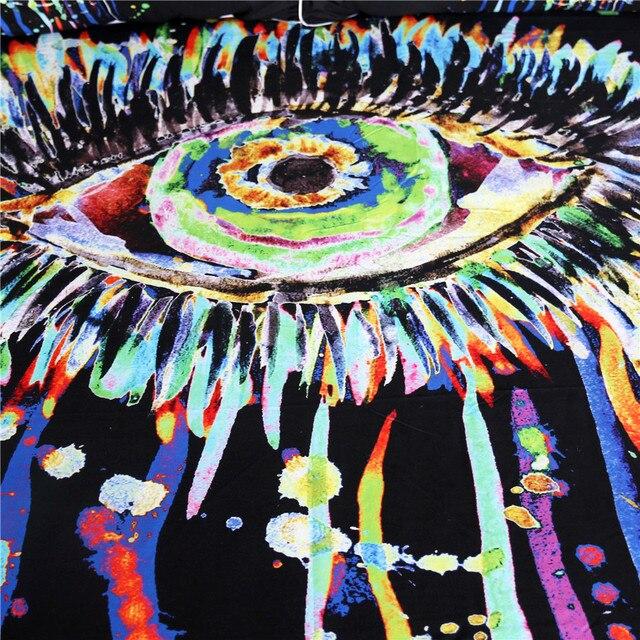 Fleece Watercolor Eye Hooded Blanket 1