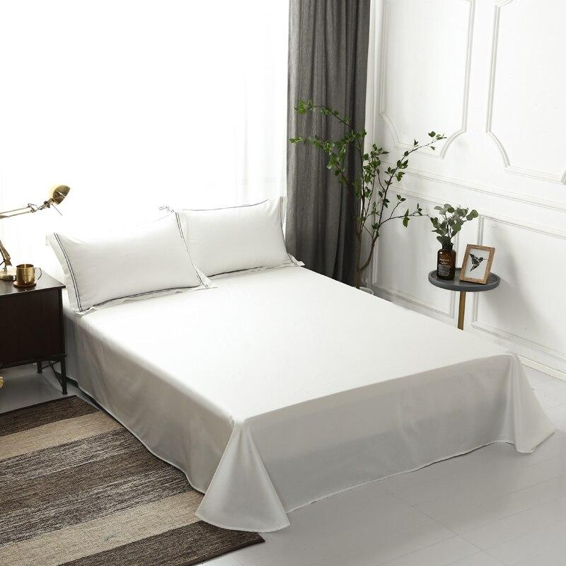 Hotel Luxus Einfarbig Bettbezug Ausgestattet Bett blatt 600TC Ägyptischer Baumwolle Premium Ultra Weiche Bettwäsche set Königin König größe 4/6 Pc-in Bettwäsche-Sets aus Heim und Garten bei  Gruppe 3