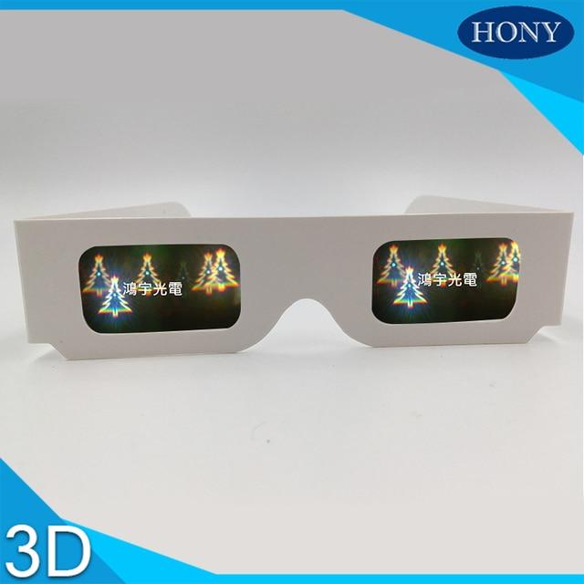 5pcs christmas treesnowmansnowflakesanta diffraction fireworks 3d glasses paper for music