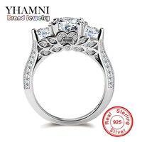 S925 Stamp Original Silver Rings Flower Set Sona CZ Diamond Engagement Rings 925 Sterling Silver Wedding