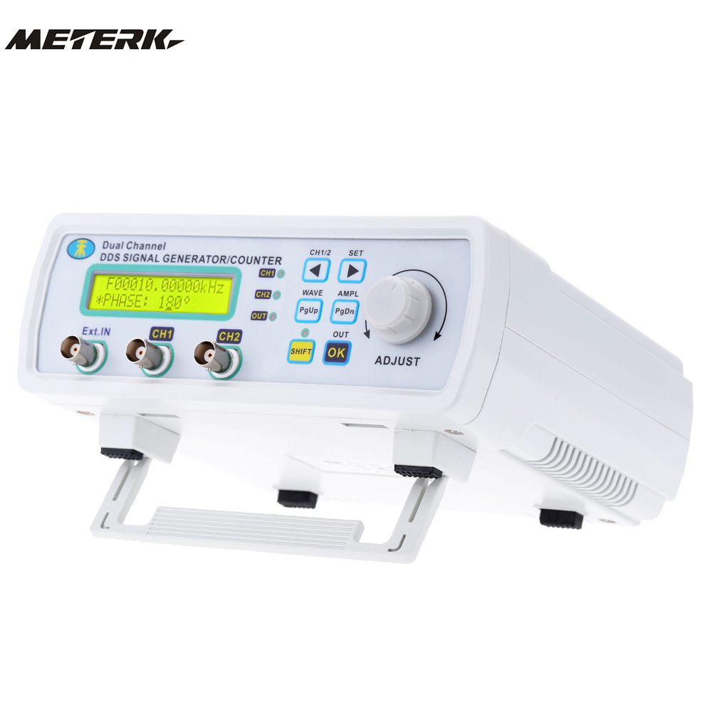6MHz DDS Dual-channel Signal Generator High Frequency 200MSa/s Digital Frequency meter MHS-5200A mhs 5212p power high precision digital dual channel dds signal generator arbitrary waveform generator 6mhz amplifier 80khz