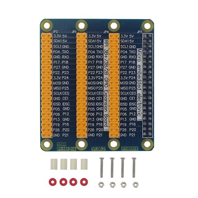Raspberry Pi 3 Model B 40 Pin GPIO Adapter Extension Board 1 to 3 40 Pin Plate Module GPIO Adapter for Orange Pi