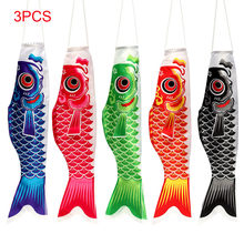 3PCS 100X25 CM Japanese Carp Windsock Streamer Fish Flag Kite Home Outdoors Hanging Decoration Koi Nobori Koinobori(China)