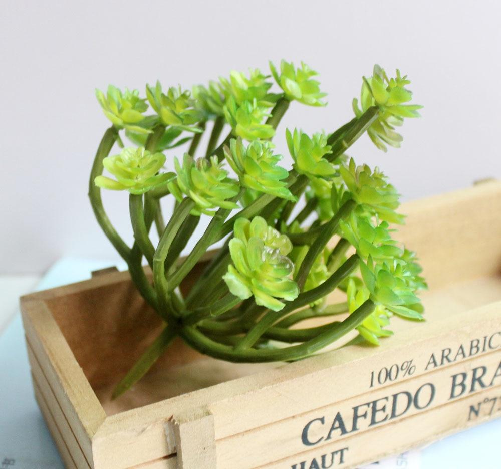 green artificial succulent plants arrangements plastic faux