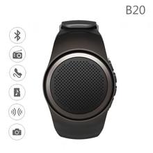 Bluetooth Smart Watch B20 Hands-free Call with Self-timer Anti-Lost Alarm TF Card FM Radio Music Sport Mini Bluetooth Speaker