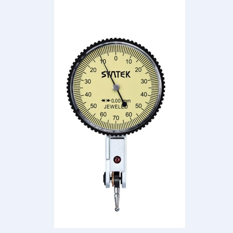 0-0.14mm Leva Indicatore Analogico Display Antiurto Quadrante Dial Gauge Indicator Test di Precisione 0.001mm di Diametro 39.5mm micrometro