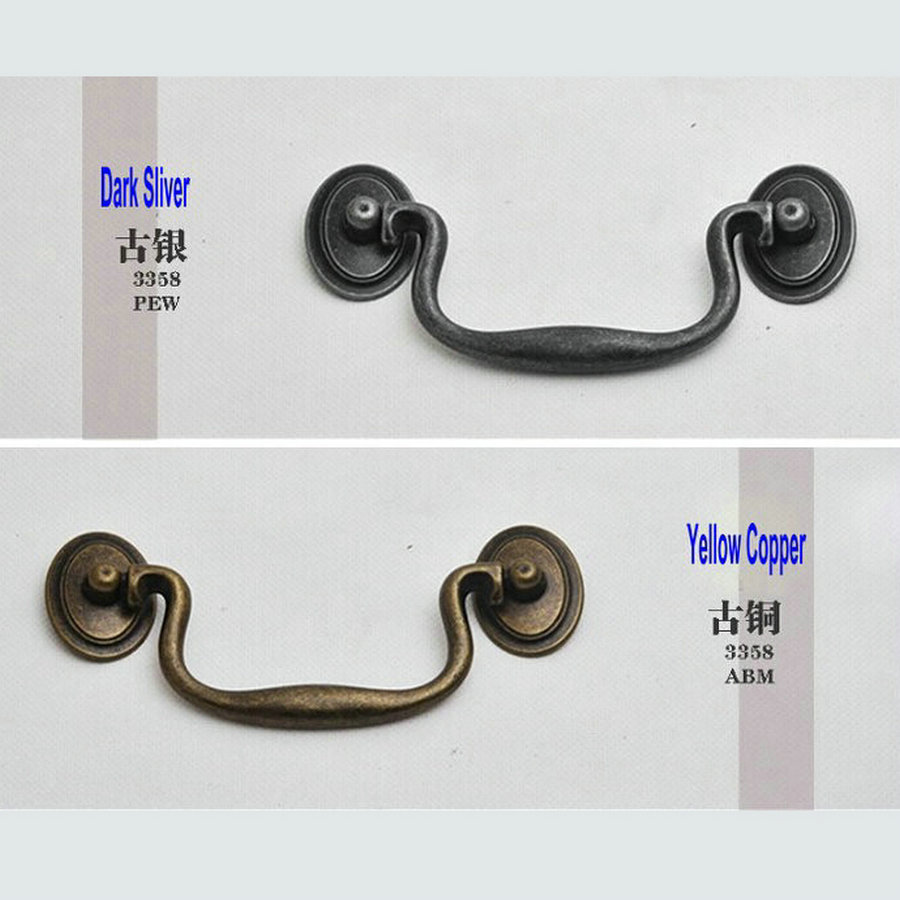 4PC/Lot Retro Antique Europe Type Cupboard Closet Cabinet Furniture Griphook Ring Pull Drawer Pull Tab