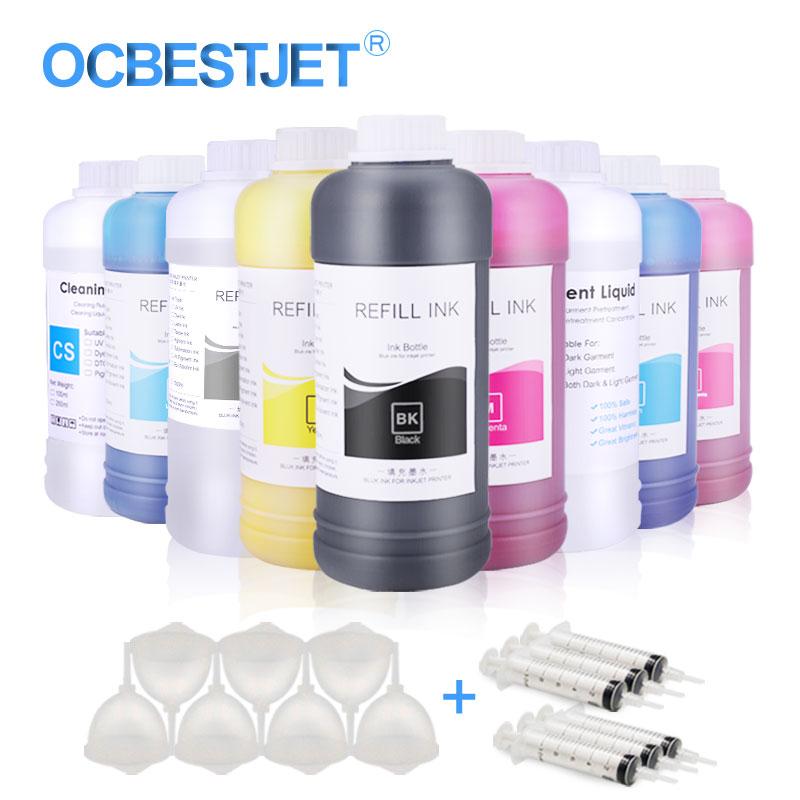 Dtg Ink Textile Ink For Epson L1800 R1900 R2000 R3000 4800 4880 Digital Ink For DTG Printer Pigment-based Textile Ink For Epson