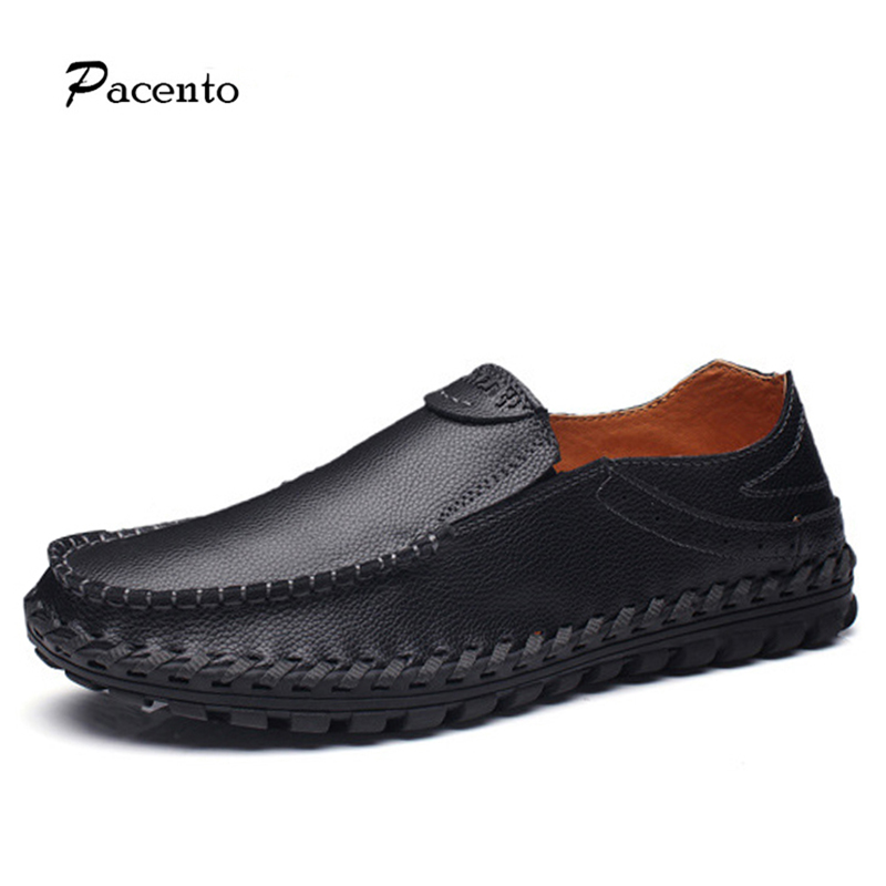 PACENTO Casual Moccasins Driving Shoe Men's Genuine Leather Shoes High Quality Breathable Brand Men Loafers Sapato Masculino 2017 sv brand fashion summer spring soft moccasins men loafers high quality genuine leather shoes men flats gommino driving shoe