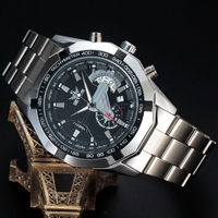 2016 Fashion Mens Watches Top Brand Luxury SEWOR Army Full Steel Skeleton Sport Automatic Mechanical Relojes