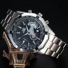 Mens Relojes de Primeras Marcas de Lujo SEWOR Ejército Completo SWQ20 Esqueleto Mecánico Automático Relojes Hombre de Acero 2016 Relojes de pulsera de Moda