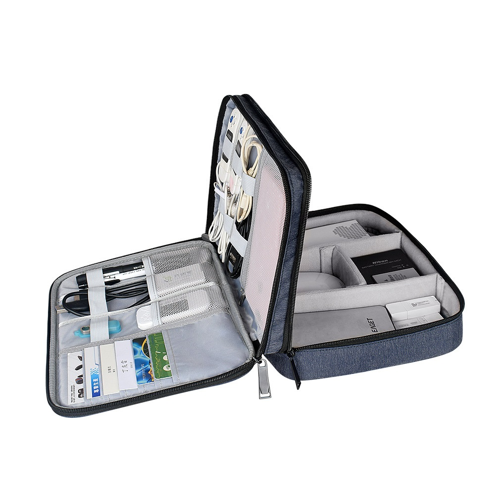 Electronics Organiser Hard Case Bag For Adaptors, Cable Sleeves, Chargers, Hard Drives, IPad Air, IPad Mini, Kindle,Camera Len