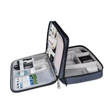 Органайзер электроники чехол для наушников для адаптеров, кабельных втулок, зарядных устройств, жестких дисков, iPad air, iPad mini, Kindle, camera Len