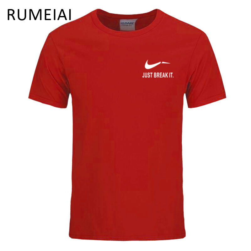 RUMEIAI Fashion Men T-Shirts Male Plus Size T shirt Homme Summer cotton Short Sleeve T Shirts Brand Men's Tee Shirts Man Clothes
