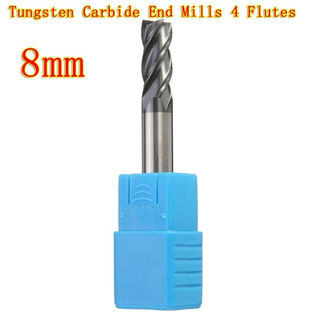 Flat bottom end mill