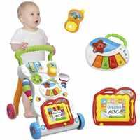 Bébé marcheur Musical enfant en bas âge chariot assis-à-debout marcheur pour enfant apprentissage précoce éducatif bébé premiers pas voiture réglable chaude