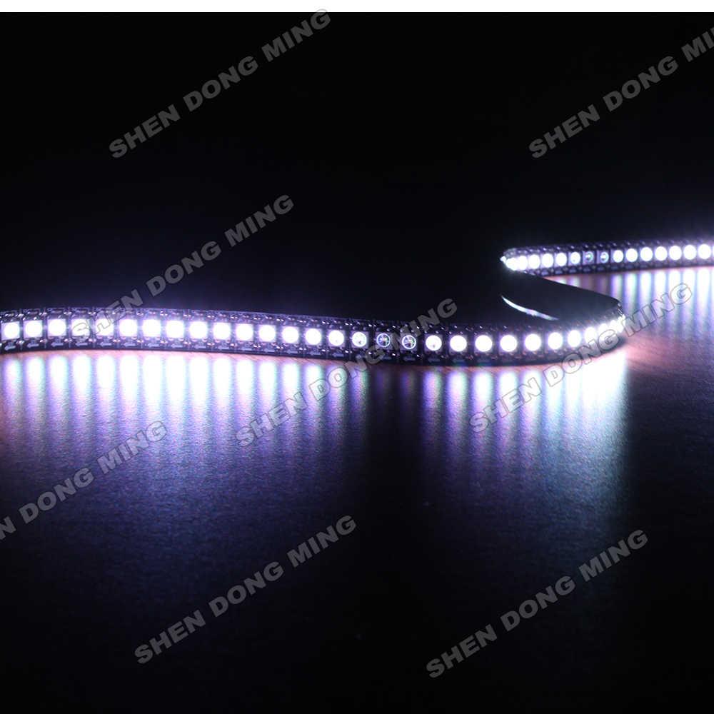 1 м 144IC/M Встроенный IC белый/черный полоса пропускания pcb цифровой WS2812 изменяемый цвет RGB декорация внутри снаружи ленты лампы