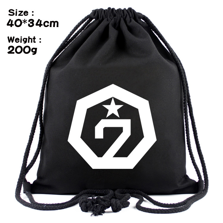 Idol Star Anime Around 21 GOT7 Exobiology Canvas Contracted Draw String Bag Backpack Beam