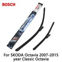 2pcs Lot Bosch Car AEROTWIN Wipers Windshield Wiper Blades Dedicated Wipers For SKODA Octavia 2007 2015year