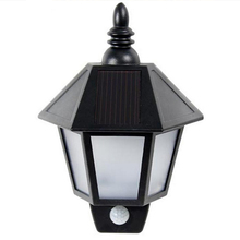 Promotion! Waterproof PIR Infrared Body Motion & Light Sensor Solar Power Panel Outdoor LED Wall Yard Garden Light Lamp White lumiparty new pir infrared body motion sensor solar power panel outdoor led wall yard garden light lamp for garden supplies