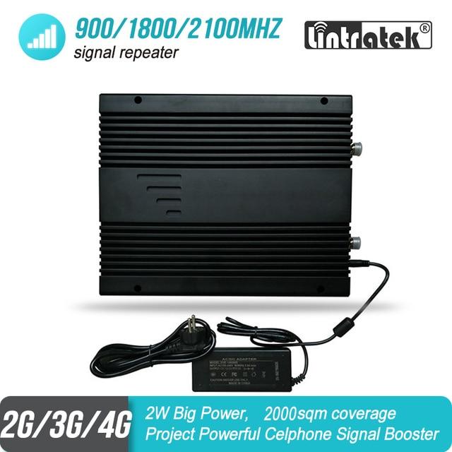 Усилитель мобильного сигнала, 2 Вт, 2G 3G 4G 900 1800 2100 МГц, трехдиапазонный проект GSM UMTS LTE репитер, усилитель 85 дБ 2000 кв. М #46
