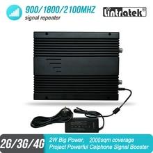 2W القوى الكبرى 2G 3G 4G إشارة المحمول معززة 900 1800 2100 MHz ثلاثي الموجات مشروع GSM UMTS LTE مكرر مكبر للصوت 85dB 2000sqm #46