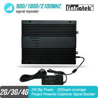2W Big Power 2G 3G 4G Mobile Signal Booster 900 1800 2100 MHz Triband Project GSM UMTS LTE Repeater Amplifier 85dB 2000sqm #46