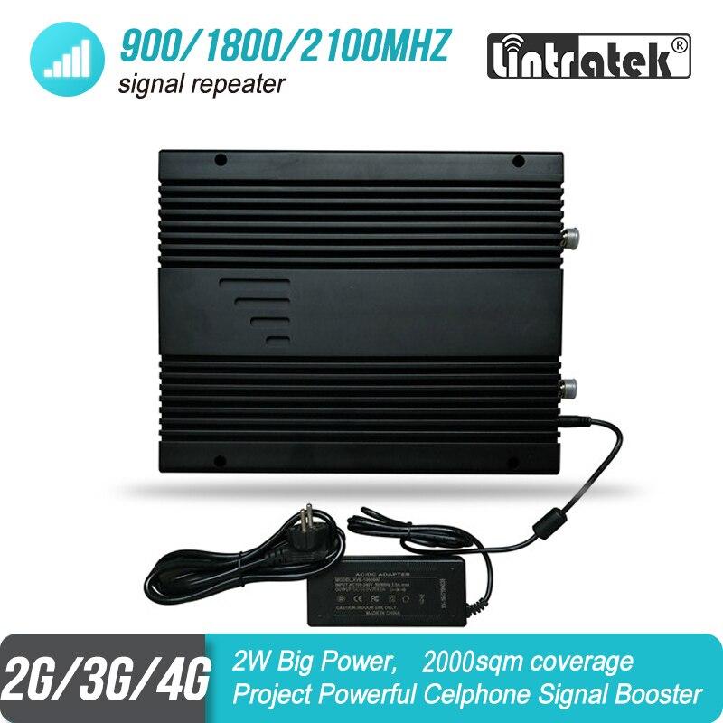 2W de gran potencia 2G 3G 4G de amplificador de señal móvil 900, 1800, 2100 MHz Triband proyecto GSM amplificador repetidor UMTS LTE 85dB 2000sqm #46