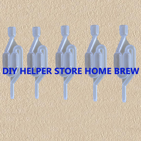 5-PACK HOME BREW BIER CERVEJA LUFTLÅS CERVEZA LUFTLOCK VINE MOONSHINERS BRODERI HOMEBREW FERMENTATION BREWING BAR TOOLS